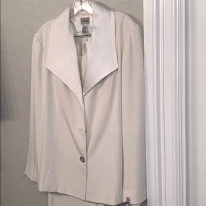 Pretty pant suit! Chico's Exaggerated collar chic